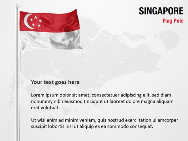 Singapore Flag Pole