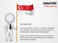 3D Man with Singapore Flag
