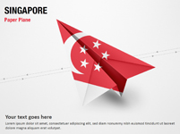 Paper Plane with Singapore Flag