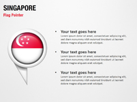 Singapore 3D Flag Pointer