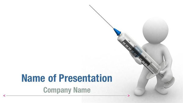 Medical Syringe Powerpoint Templates Medical Syringe