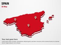 Spain 3D Map