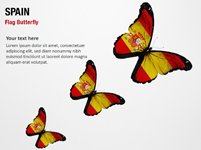 Spain Flag Butterfly