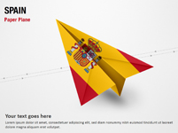 Paper Plane with Spain Flag