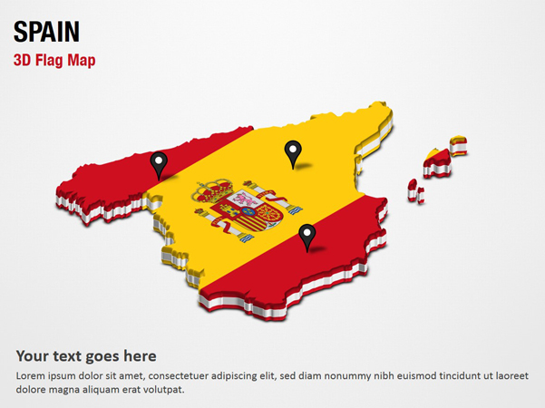 3d Map Of Spain.3d Section Map With Spain Flag Powerpoint Map Slides 3d Section Map With Spain Flag Map Ppt Slides Powerpoint Map Slides Of 3d Section Map With