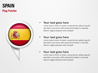 Spain Flag Pointer