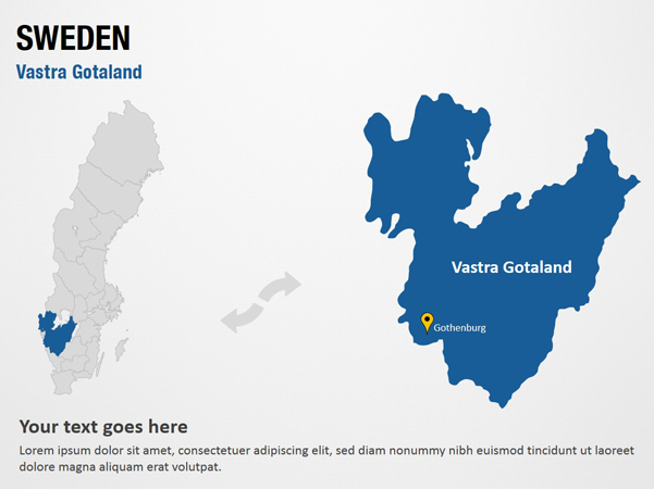 Vastra Gotaland Sweden Powerpoint Map Slides Vastra Gotaland Sweden Map Ppt Slides Powerpoint Map Slides Of Vastra Gotaland Sweden Powerpoint Map Templates