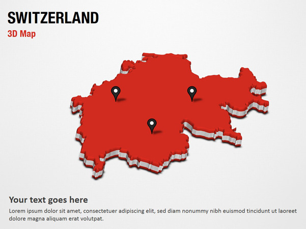 Switzerland 3D Map