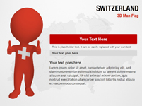 Switzerland 3D Man Flag