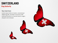 Switzerland Flag Butterfly