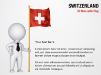 3D Man with Switzerland Flag