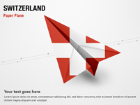Paper Plane with Switzerland Flag