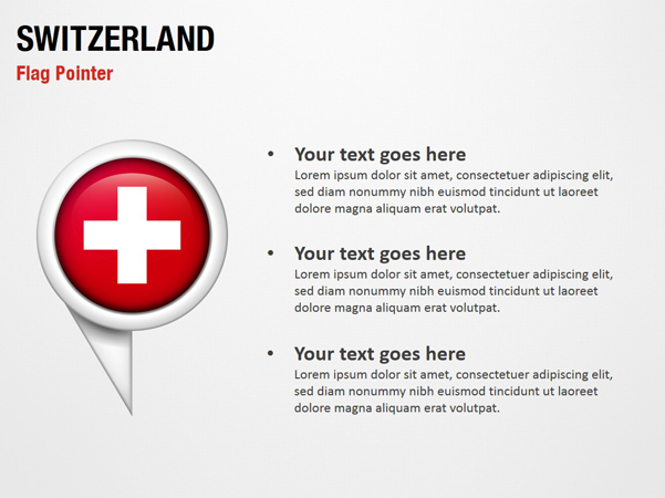 Switzerland Flag Pointer