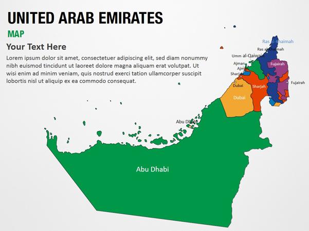 United Arab Emirates Map PowerPoint Map Slides - United Arab ...