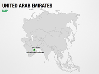 United Arab Emirates on World Map