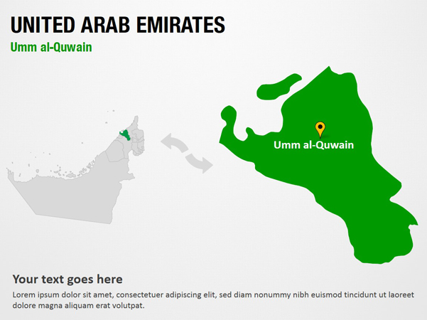 Umm Al Quwain United Arab Emirates  City new picture : Umm al Quwain United Arab Emirates PowerPoint Map Slides Umm al ...