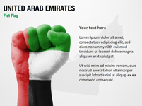 United Arab Emirates Fist Flag