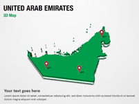 United Arab Emirates 3D Map