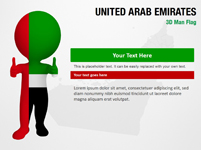 United Arab Emirates 3D Man Flag
