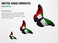 United Arab Emirates Flag Butterfly