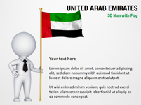 3D Man with United Arab Emirates Flag