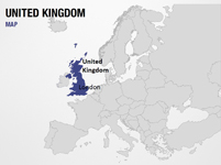 United Kingdom on World Map