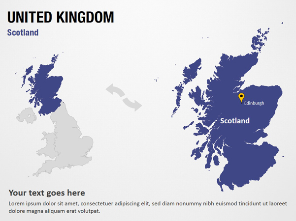 Map Of Uk Template.Scotland United Kingdom Powerpoint Map Slides Scotland United Kingdom Map Ppt Slides Powerpoint Map Slides Of Scotland United Kingdom