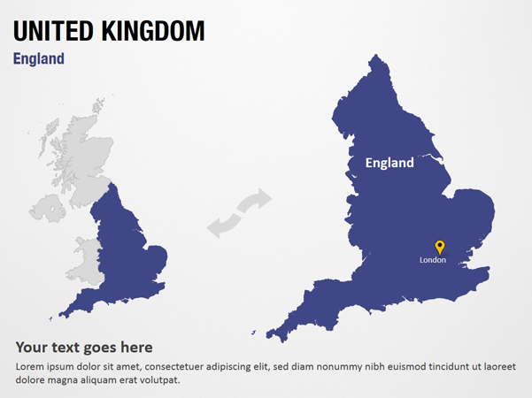 Map Of Uk For Powerpoint.England United Kingdom Powerpoint Map Slides England United Kingdom Map Ppt Slides Powerpoint Map Slides Of England United Kingdom