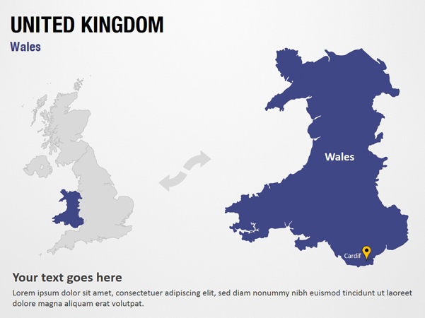 Map Of Uk For Powerpoint.Wales United Kingdom Powerpoint Map Slides Wales United Kingdom Map Ppt Slides Powerpoint Map Slides Of Wales United Kingdom Powerpoint Map