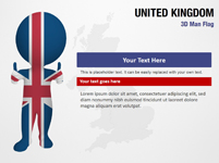 United Kingdom 3D Man Flag