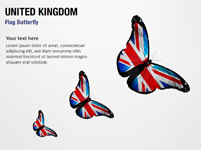 United Kingdom Flag Butterfly