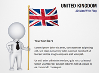 3D Man with United Kingdom Flag