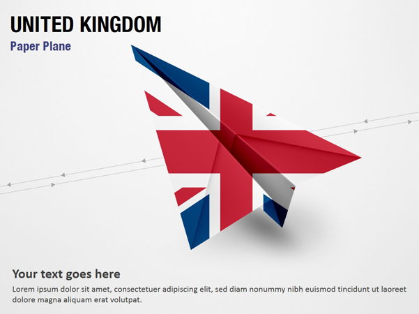 Paper Plane with United Kingdom Flag