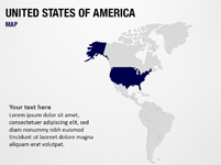United States of America on World Map