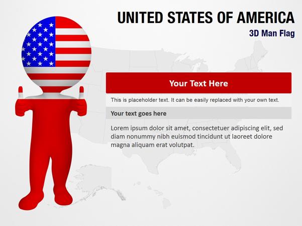 United States of America 3D Man Flag