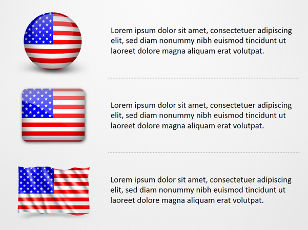 United States of America Flag Icons