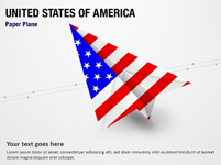 Paper Plane with United States of America Flag