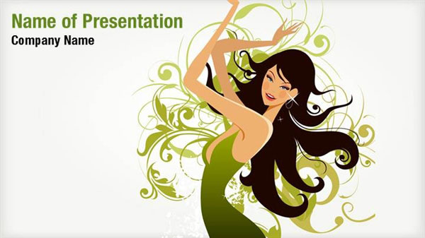 Abstract Fashion Girl Powerpoint Templates Abstract