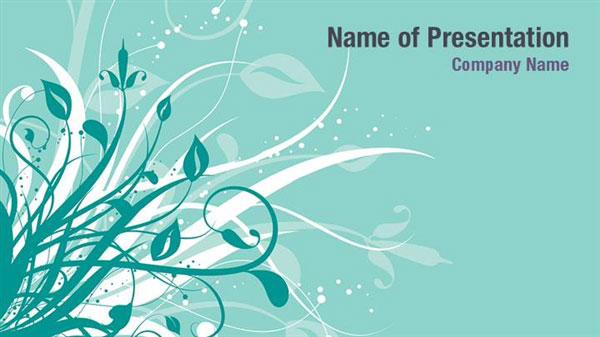 Abstract Floral Powerpoint Template Backgrounds