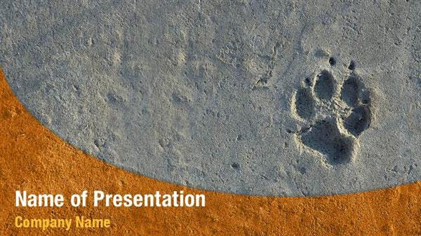 Animal Foot Print Powerpoint Templates Animal Foot Print