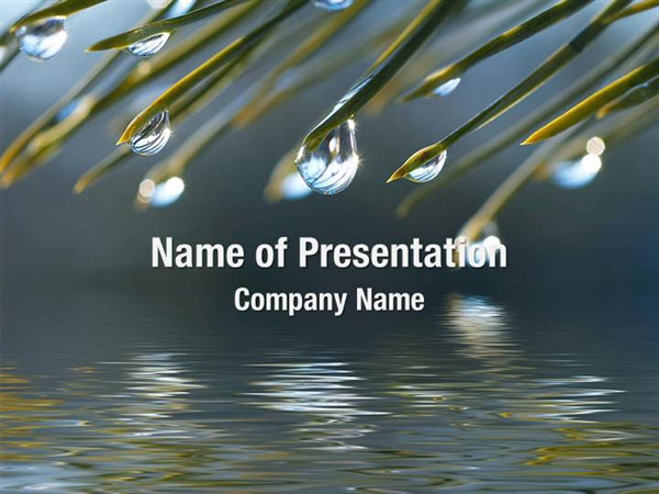Water Drops Powerpoint Templates Water Drops Powerpoint