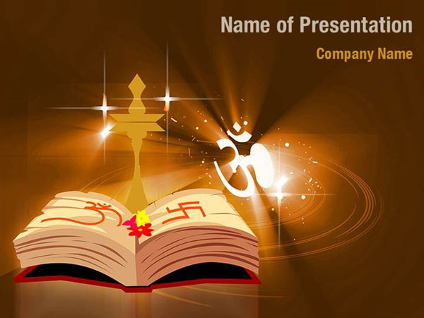 Hindu Temple PowerPoint Template Backgrounds