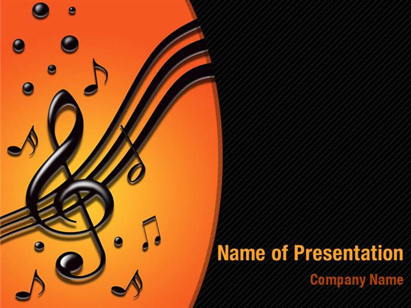 music tune powerpoint templates  music tune powerpoint, Powerpoint