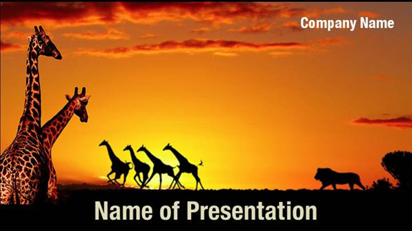 african nature concept powerpoint templates