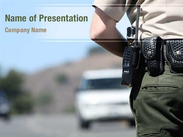 traffic police powerpoint templates