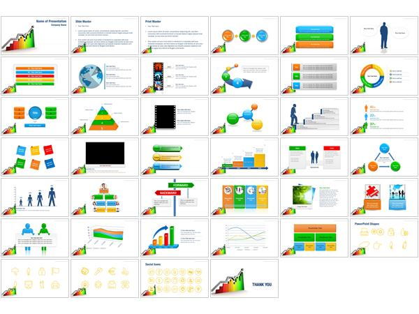 statistic graph powerpoint templates statistic graph