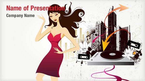 Abstract DJ Girl