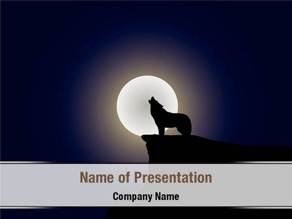 Wolf PowerPoint Templates - Wolf PowerPoint Backgrounds