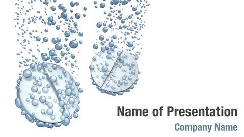 Tablets Dissolving In Water Powerpoint Templates - Tablets