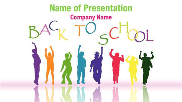 Back To School Kids PowerPoint Template Backgrounds